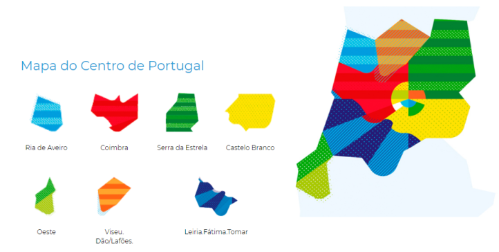 Map of the Center of Portugal