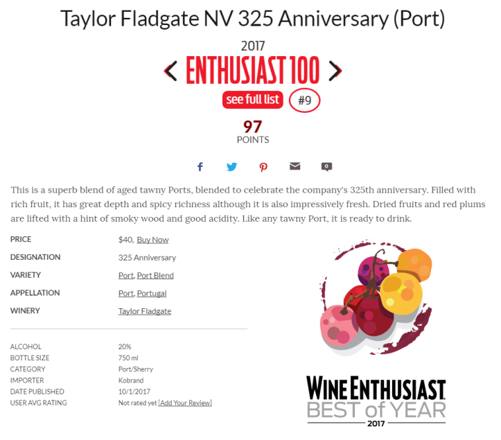 Taylor Fladgate NV 325 Anniversary (Port)